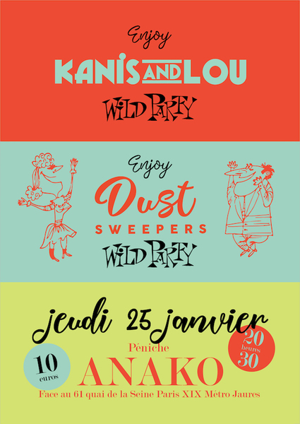 "Double plateau : Kanis et Lou et Dust Sweepers, ""Vintage Swing & Hawaiian music"""